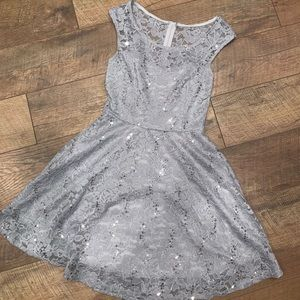 Dresses & Skirts - Silver Occassion dress